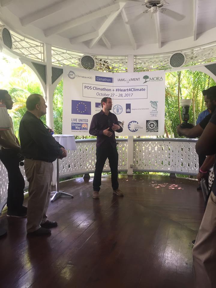 IAMovement co-founder Jonathan Barcant welcoming everyone