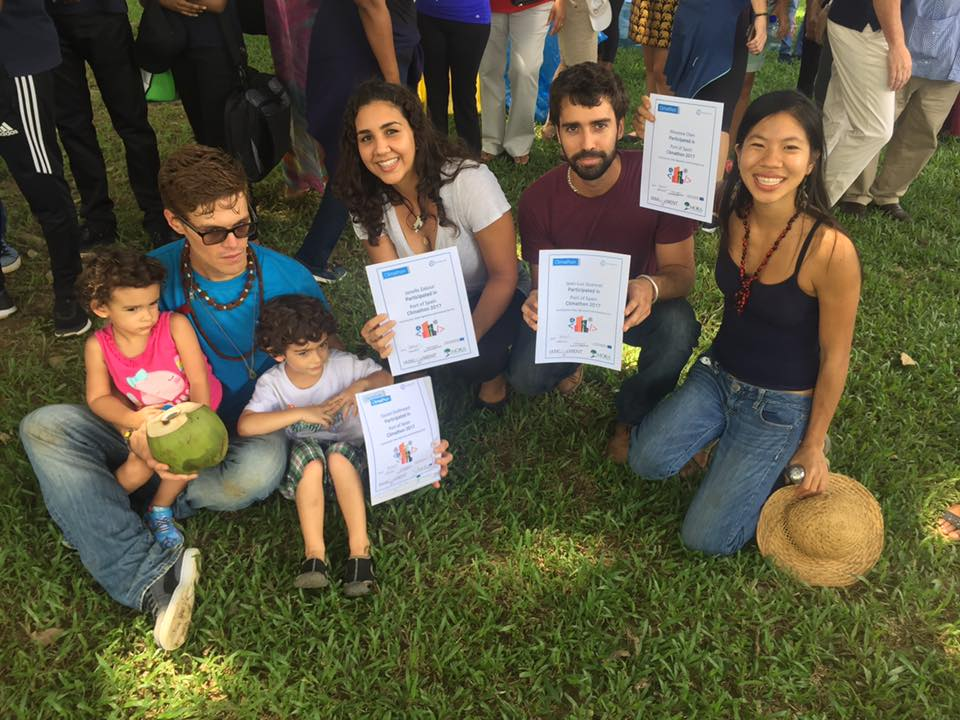 My team with our participation certificates
