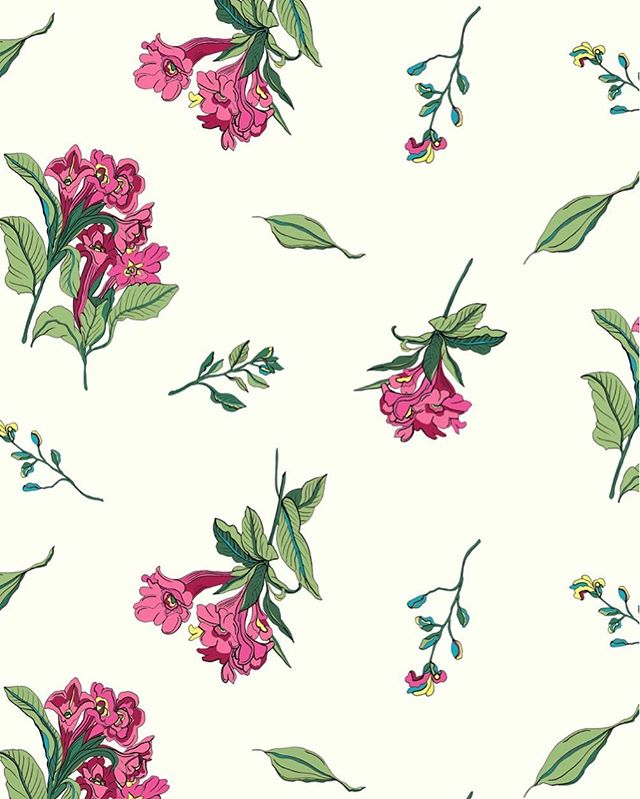 Pretty prints intended for next summer ☀️🌸🍃 🖊🖥 #handdrawing #pen #floral #designer #ss19 #printdesign #print #design #illustration #graphicdesign #illustrator #fashion #surfacedesign #textiledesign #interiors #textiledesigner #pattern #britishinteriors #textilesdesign #flowers #entrepreneur #digitalart #drawing #adobe