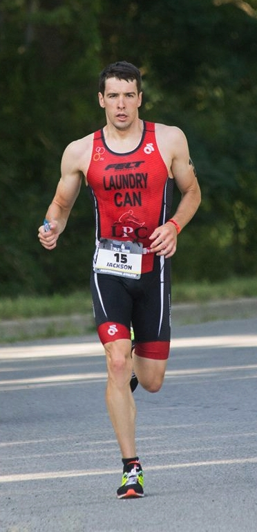 On the run at Ironman 70.3 Steelhead. Photo by Maddy McMillan