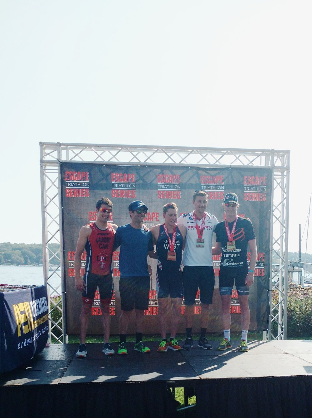 5th at Escape Lake Geneva Oly Tri. Not my best day, but I was grateful to end up in the last prize money spot.