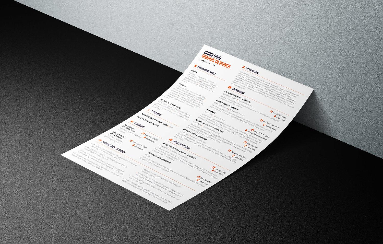 Curriculum Vitae Chris Hird Design Professional Graphic Design
