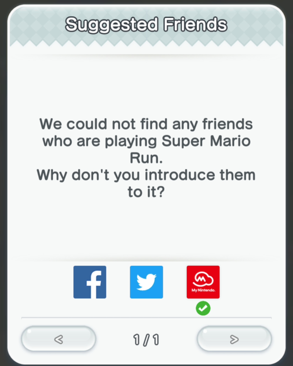 Social - Suggested Friends in Super Mario Run