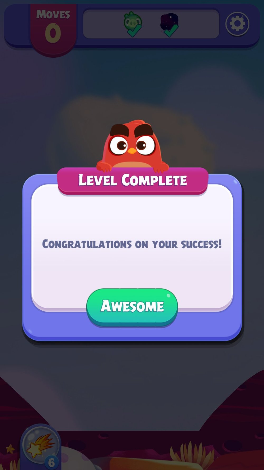 The Level Complete message is very cute