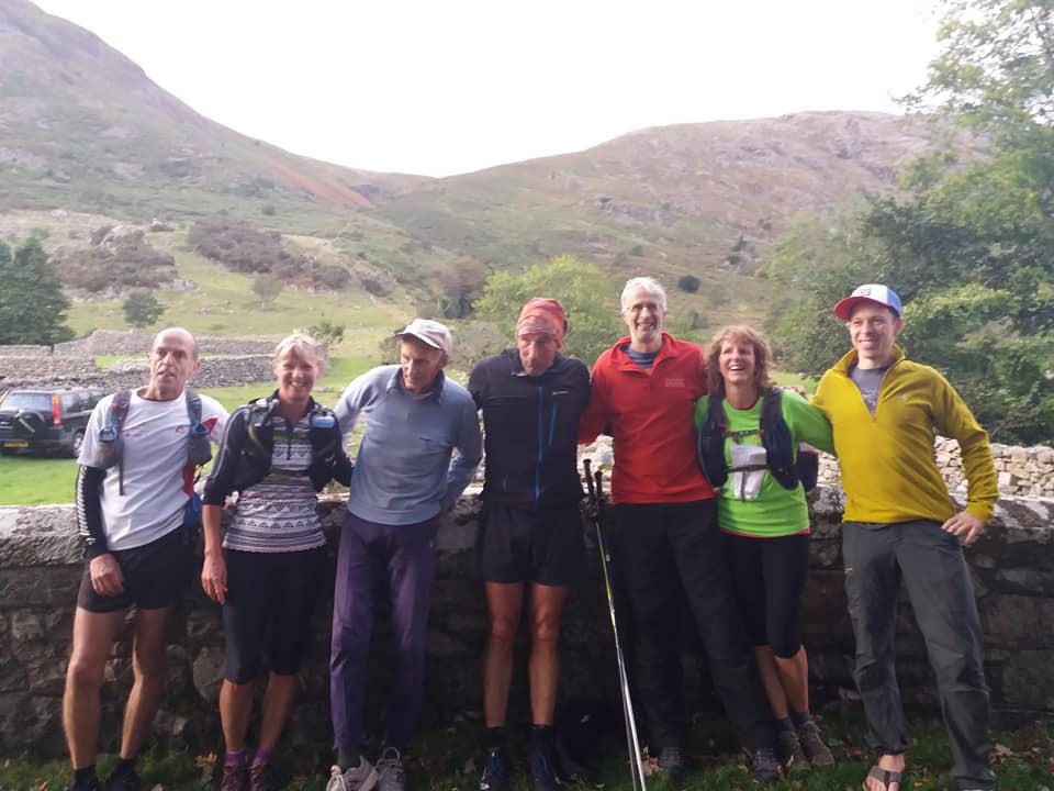 The end of a fabulous day... Left to right; Steve, Hilary, Joss, Joe, Neil, Ros and Phil... now off to the pub!