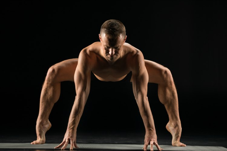 Modified Standing Frog Pose