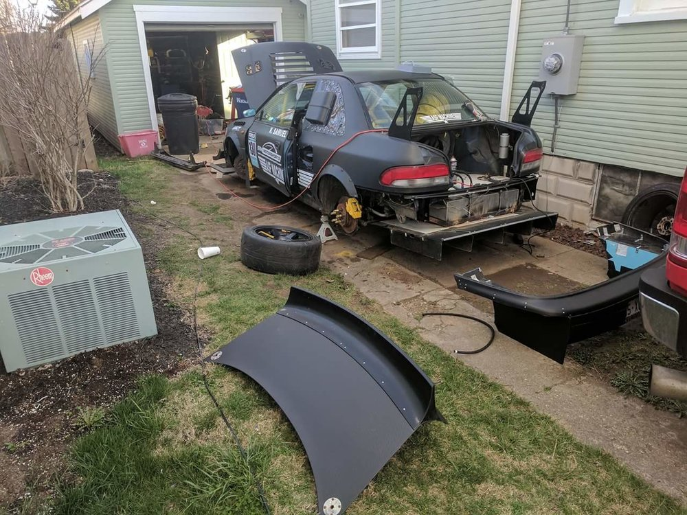 As the car sat 10 days before Mid-Ohio at the house