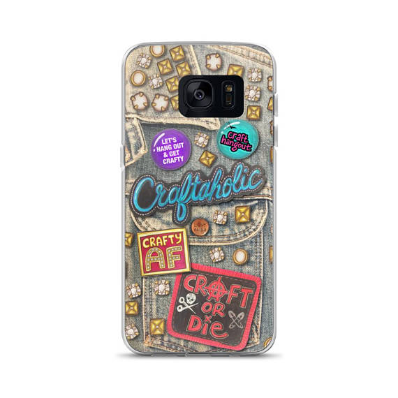 Craft Hangout Patchy Print Samsung Case