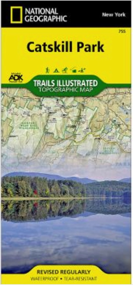 National Geographic Catskill Park New York Topographic Map