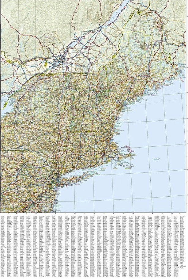 National Geographic United States - Northeast Adventure Travel Map ...