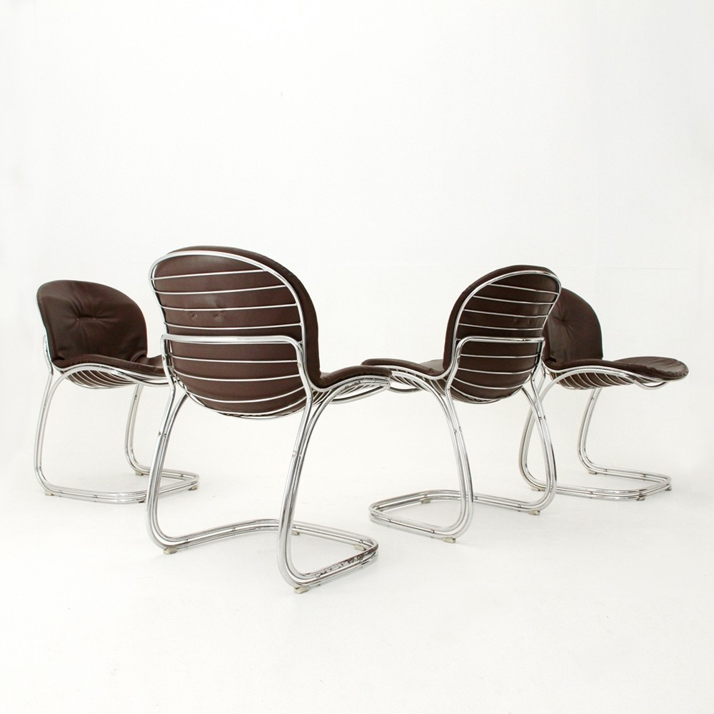 SABRINA DINNER CHAIRS BY GASTONE RINALDI FOR RIMA ITALY, 1970S