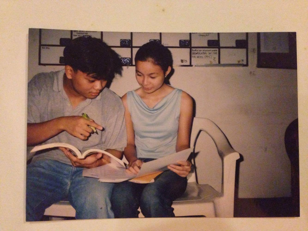 Posing with my classmate Patrick Tan (I don't remember what class for, hehe). This was taken in our UP OBEM tambayan.