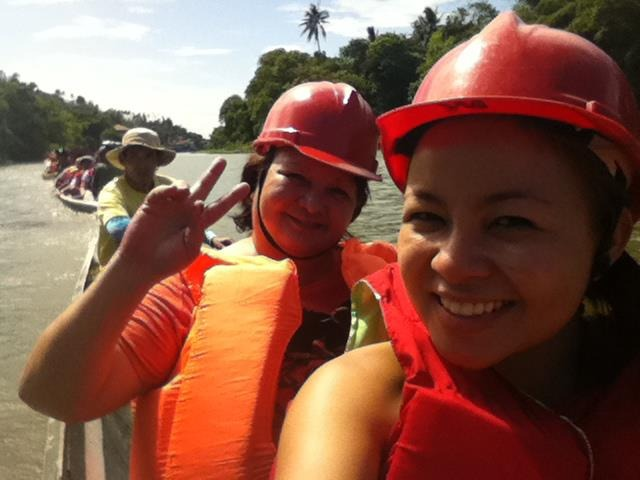 Pagsanjan Falls, Oct 2012 - the only time I saw my mom ever ride a banca :D