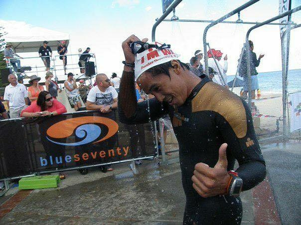 Joey during his first full Ironman in Perth, Australia, 2011.