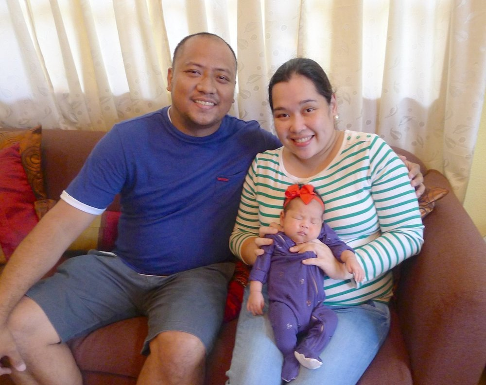 Our wedding coordinator Marge Montemayor with her husband, RG, and beautiful baby Stella Lucia. :)