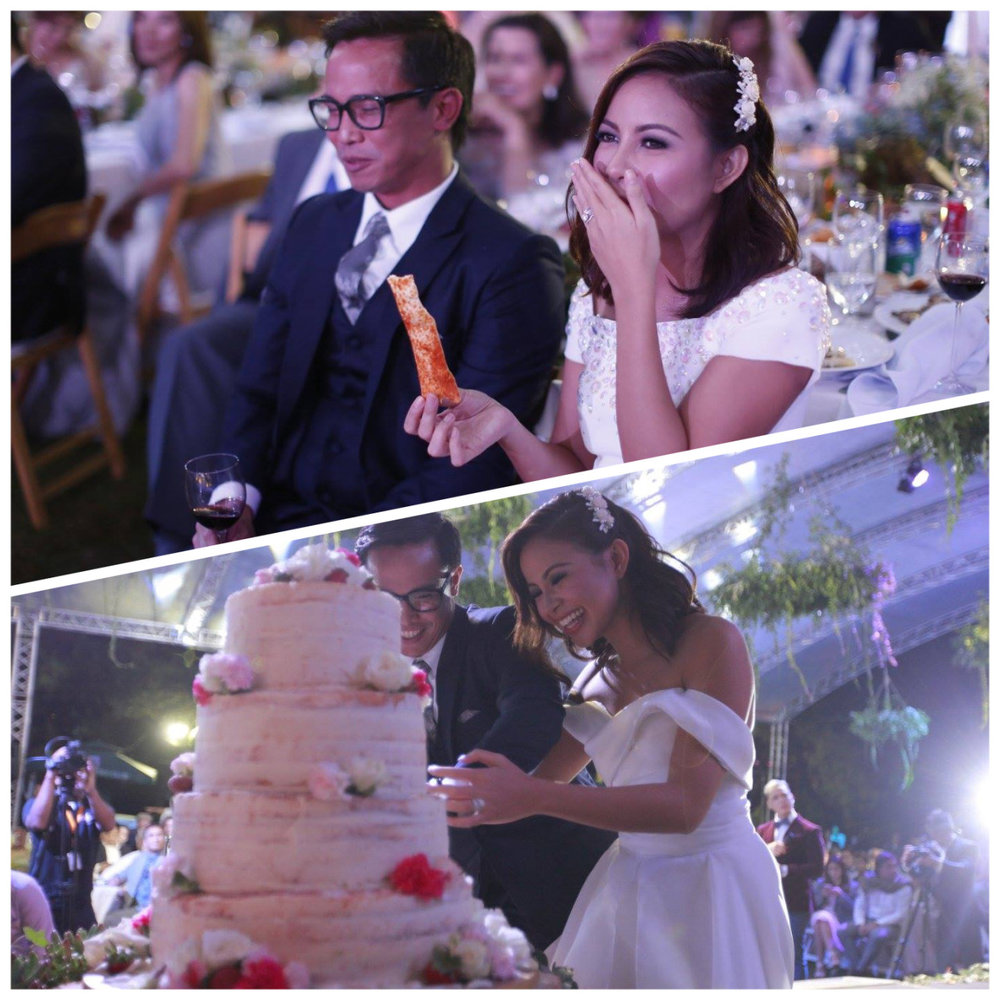 They all warned us, but we were too nervous about our first song to eat a substantial amount. If I had only known, I would have eaten more of  Coco Cake 's delicious naked cake!! Haha