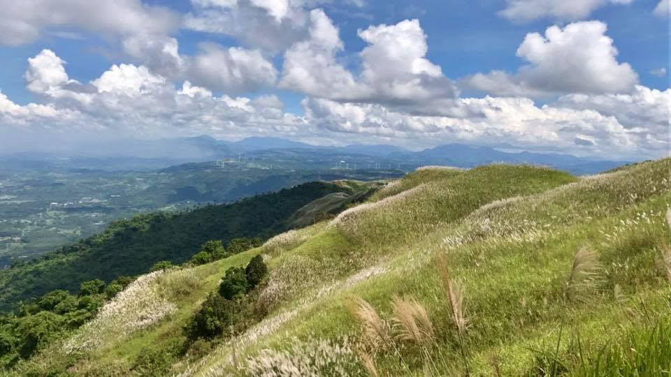 Felt like my lungs could have taken twice the usual air at Mt. Sembrano's summit. Do you see the wind farm in the distance? :)