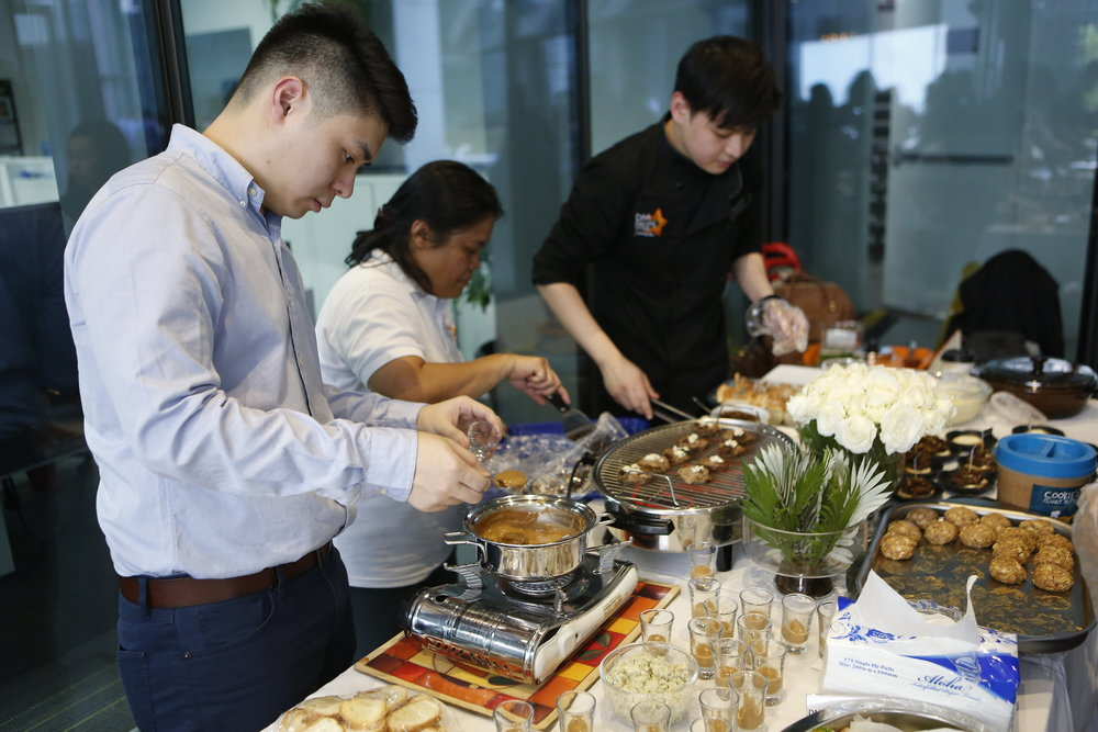 Chef Anton with his Salad Master team - I am salivating just looking at that spread again! Yum yum yum!!!