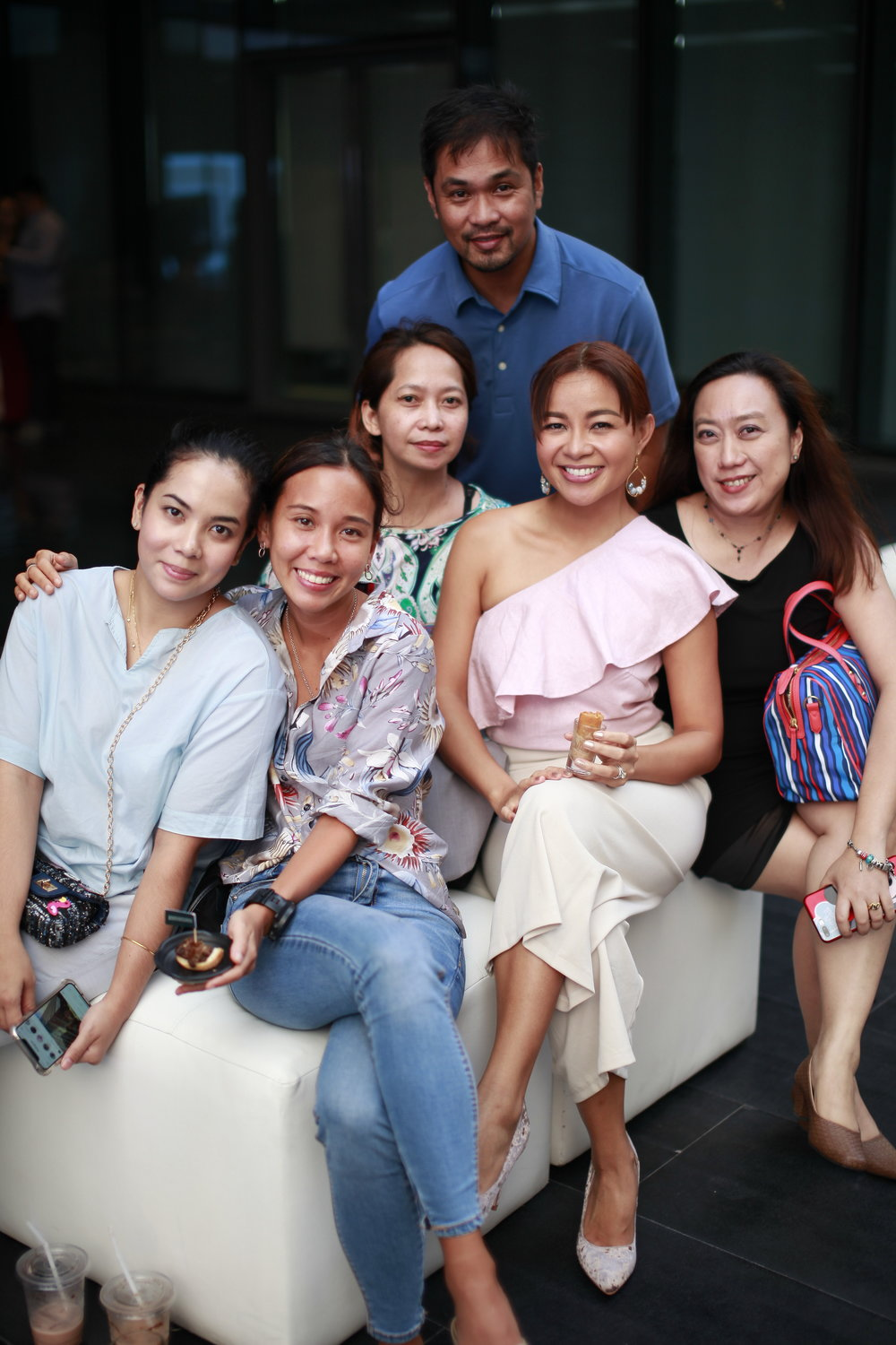 My brother-in-law's girlfriend Carla with my SMP loves with whom I plan every Sittizen outreach with <3