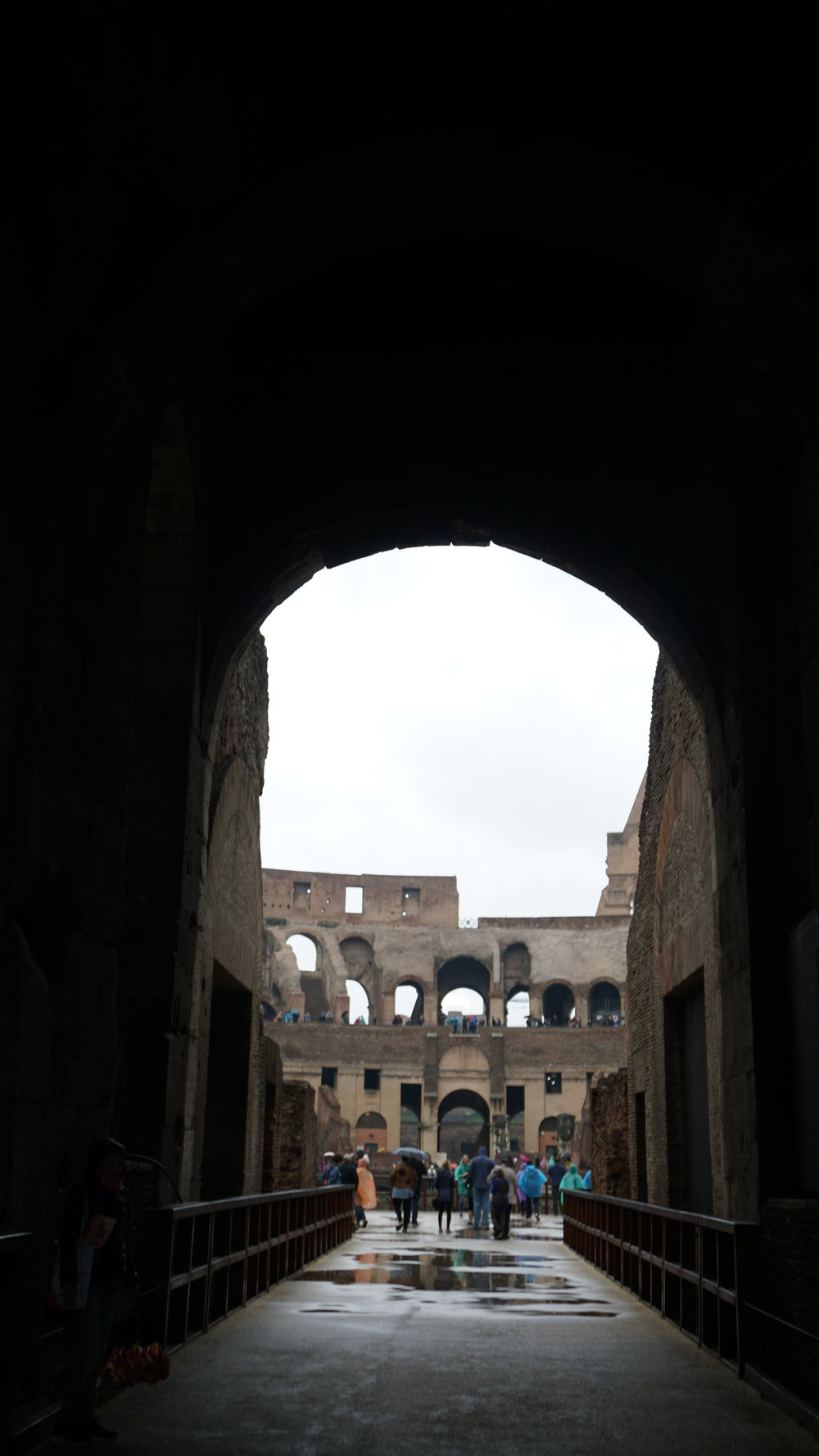Until now, I still remember the ghostly chill as we entered through the Gate of Death, where they carted off dead gladiators and animals.
