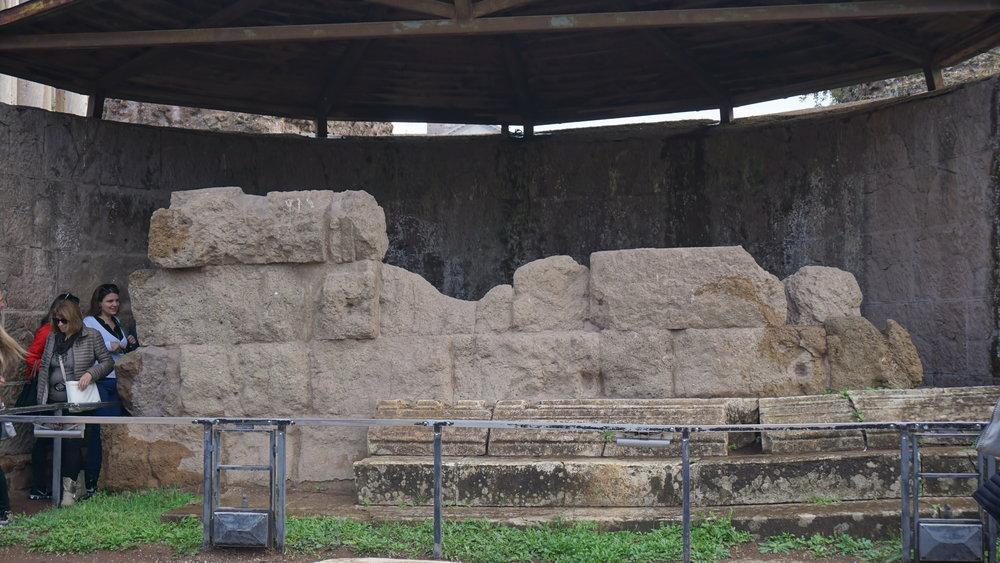 Julius Caesar's memorial.