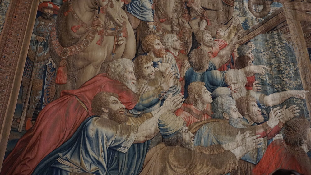 An exquisite piece from the Gallery of Tapestries, my favourite gallery.
