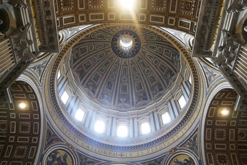 Inside-Michaelangelo's Dome-St-Peter's-Basilica-Vatican.JPG