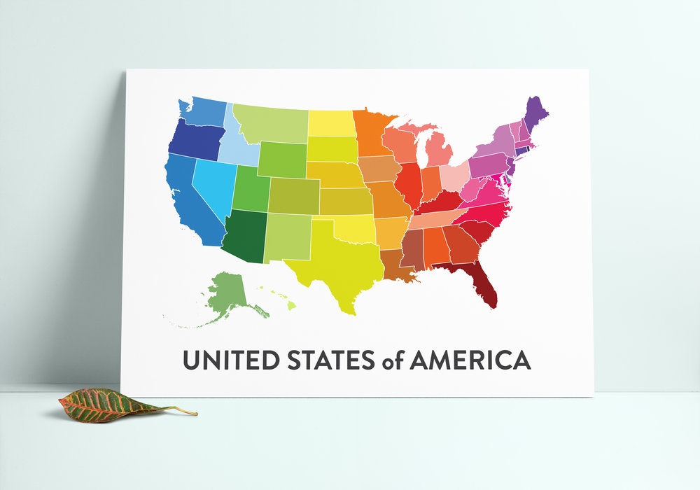 United States Map Printable — Olivia Herrick Design