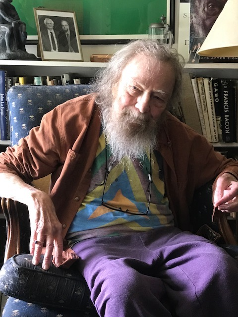Donald Hall at Eagle Pond, July 26, 2017.  Photograph by Wendy Strothman.