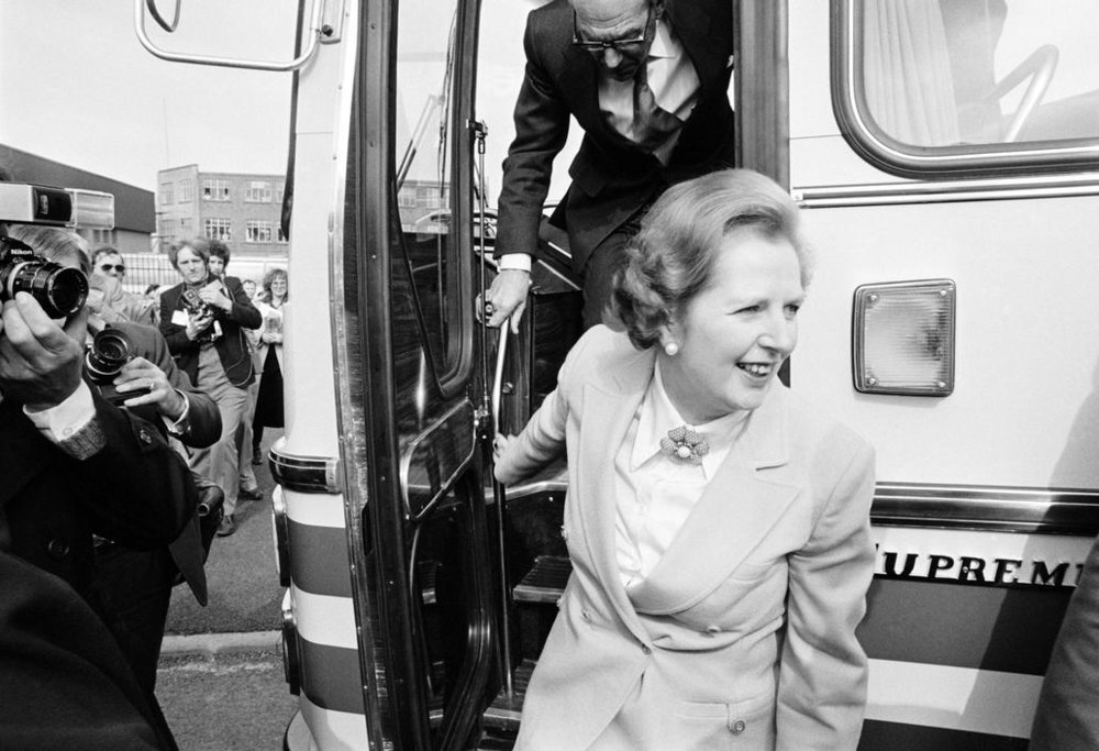 GB. ENGLAND. Margaret THATCHER on the campaign trail in Cardiff, South Wales and Bristol.