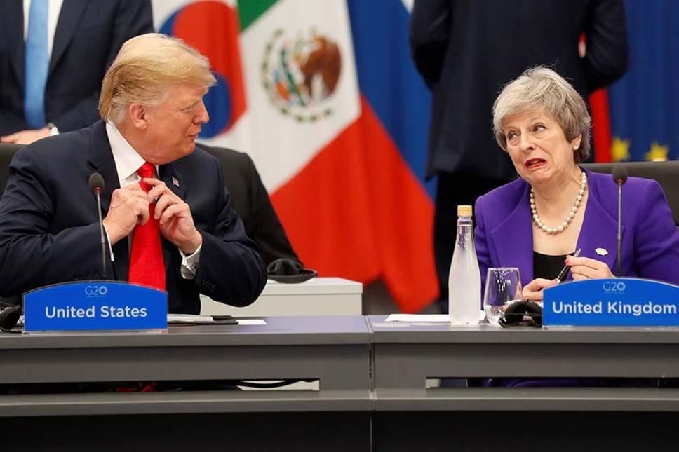 Президент США Дональд Трамп та прем'єр-міністерка Великої Британії Тереза Мей  Reuters