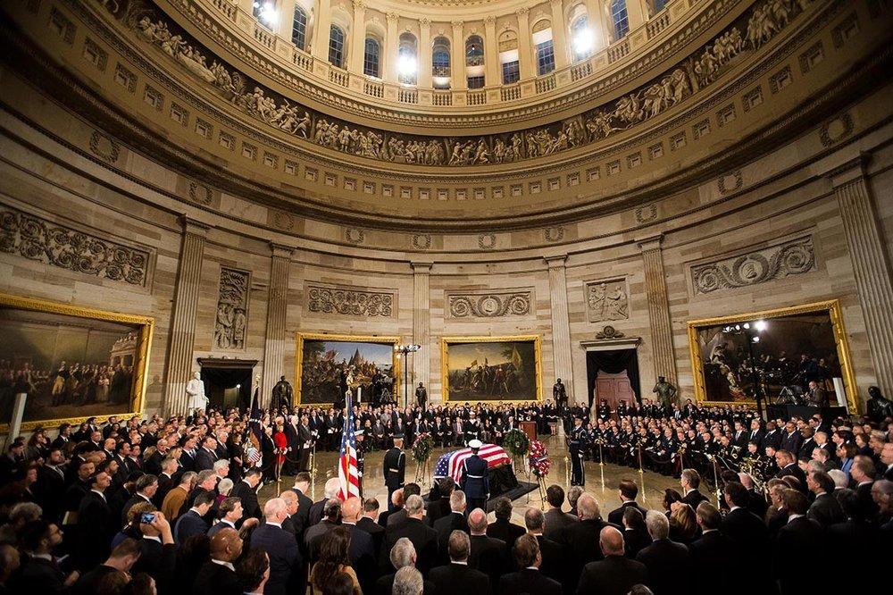 Похорон 41-го Президента США Джорджа Буша-Старшого, 2018  Photo: M. Scott Mahaskey / Politico