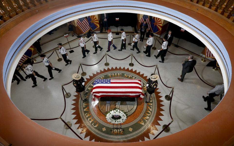 Похорон сенатора Джона МакКейна, 2018  Photo: Ross D. Franklin / AFP / Getty Images
