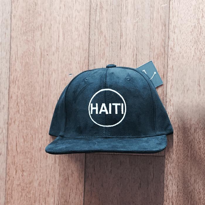 HAITI (BLACK SUEDE) $35.00