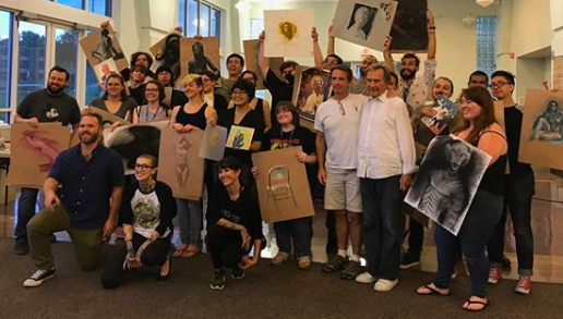 Last day of IA Summer 2018 - Raffle of all the mentor's works and demos! Students go home with priceless works of art and even better memories.