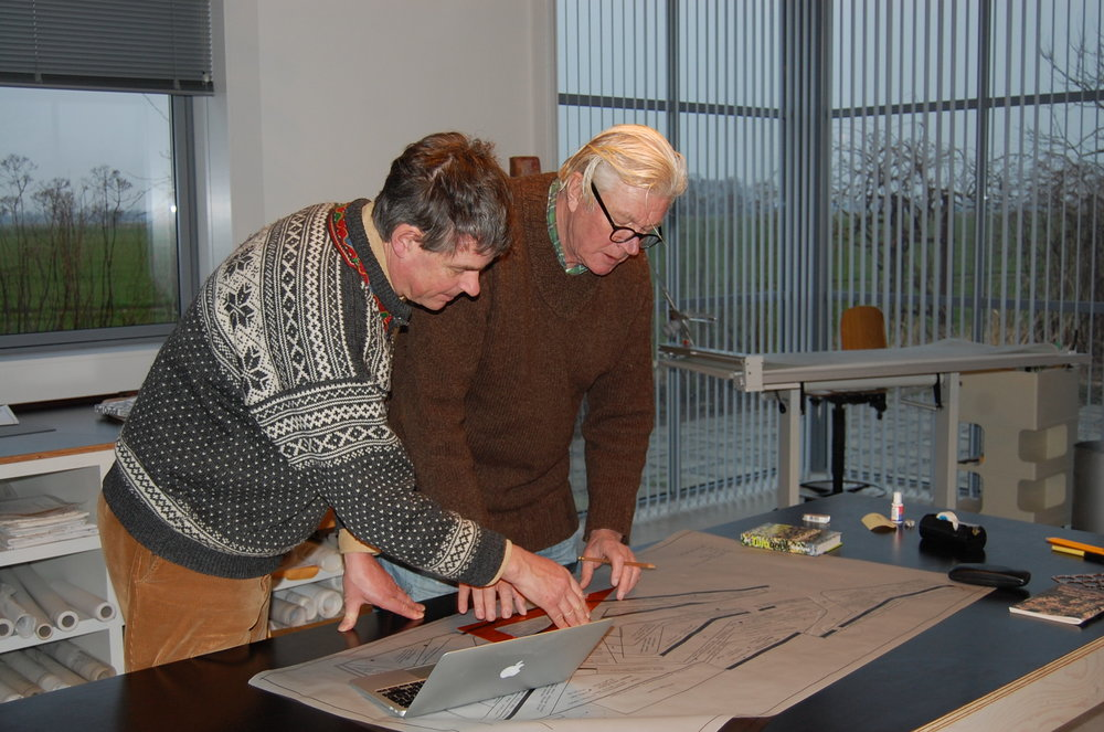 Looking at some plans with Piet Oudolf