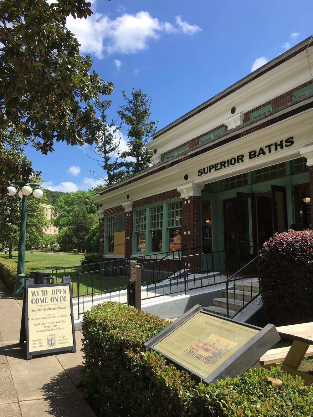 Superior Bathhouse Brewery - the only brewery INSIDE a national park.