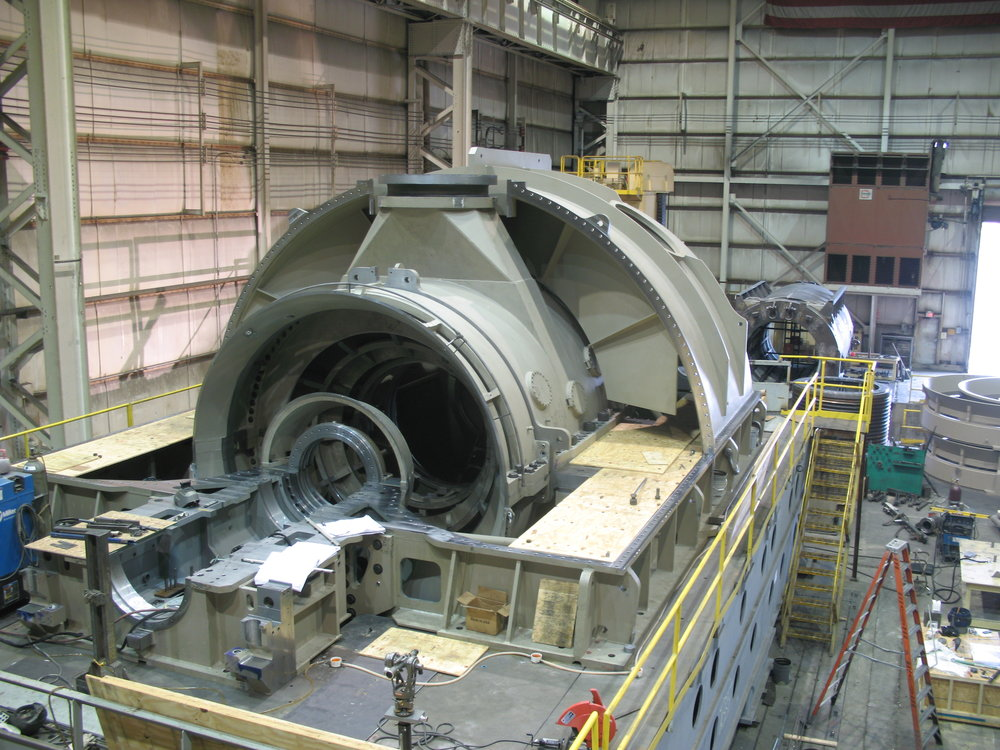 Large Assembly Stands - Large Assembly of Steam Turbine