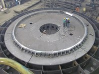 Large Assembly - Large Assembly of Rotating Tub Base and Gears for Dragline