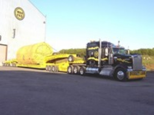 In-House Trucking Service - WarFab's 100-ton Super Hauler