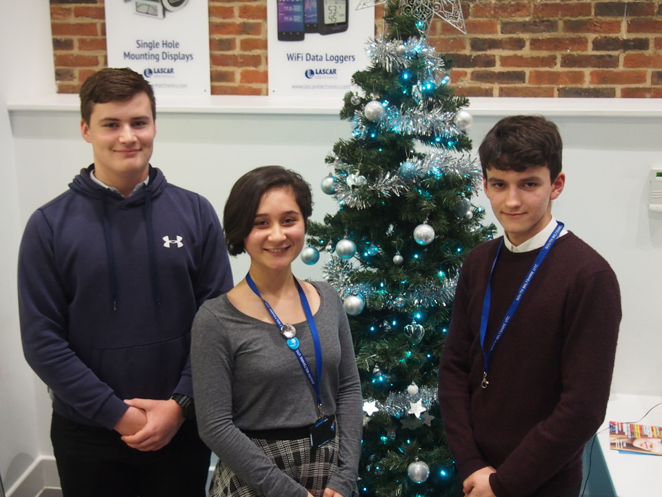 Max Humpreys, Eleanor-Josephine Adamson and Nathan Baker, three Salisbury UTC students giving their top tech gift advice this Christmas.