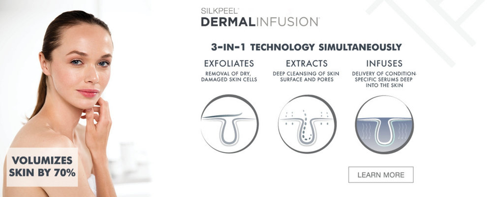 Silk Peel Dermalinfusion is a medical grade microdermabrasion which exfoliate and treat your skin at the same time.