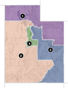 Utah's 2nd Congressional District covers the largest area of the four districts and includes Sale Lake City, Cedar City, Moab, Beaver, St. George, and all the smaller cities and towns in between.