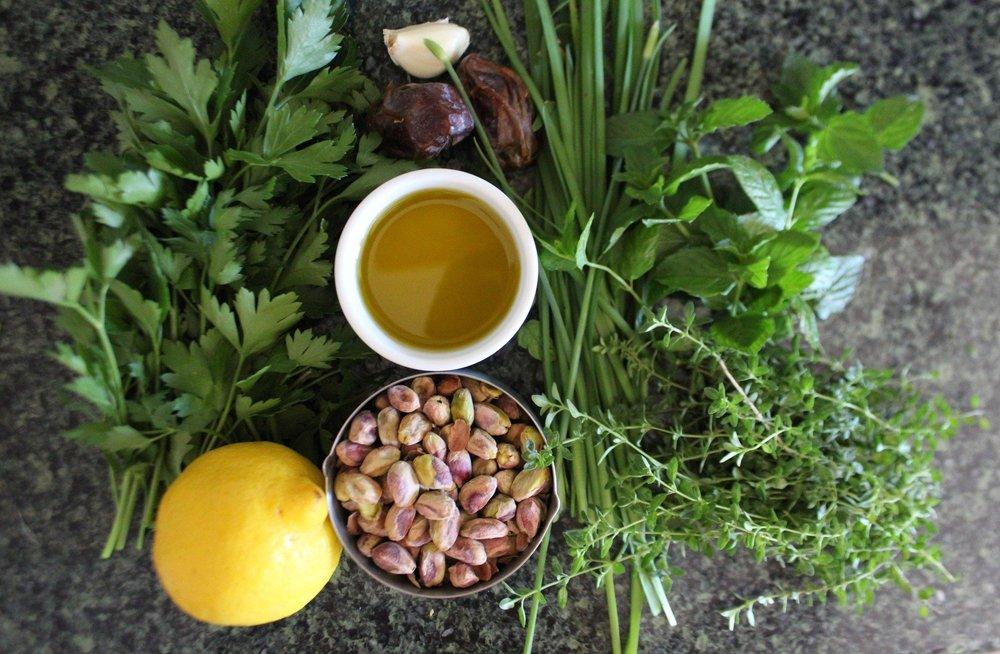 Pistachio Pesto Ingredients