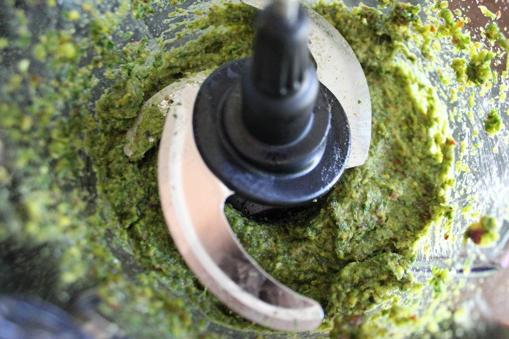 Pistachio Pesto Processed
