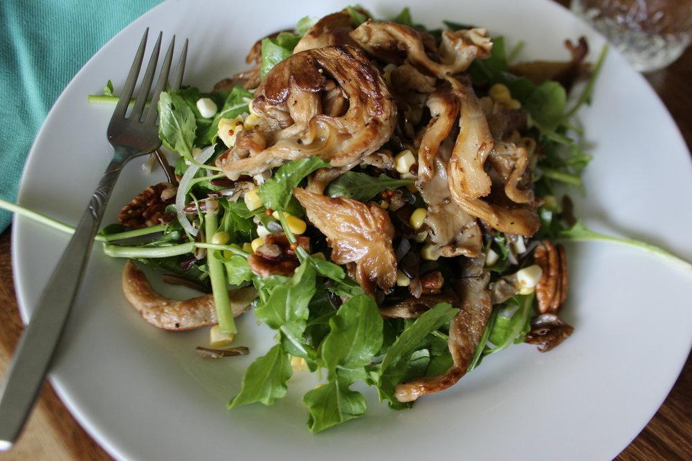 Seared Oyster Mushroom Salad