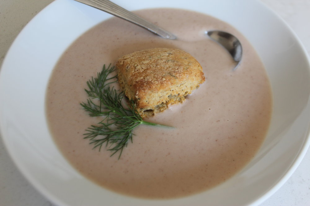 Cauliflower Fennel Pecan Soup
