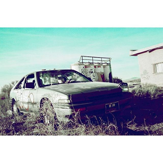 Where we're going, we don't need roads. • • • • • • • • • • • • • #35mm #35mmfilmphoto #filmisnotdead #myfeatureshoot #thefilmcommunity #crossprocess #filmfeed #fujiprovia #provia100f #pentaxk1000 #arizona #car #honda #carphotography #navajoreservation #agameoftones #abstract #abstracto #artcar #backtothefuture #cinematic