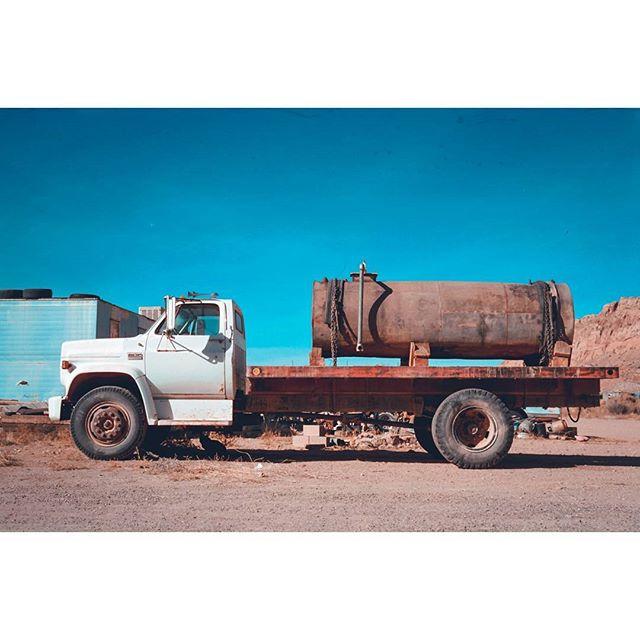 Truck. • • • • • • • • • • • • #35mm #35mmfilmphoto #filmisnotdead  #myfeatureshoot #thefilmcommunity #crossprocess #filmfeed #creativecommune #cinestill #cinestill50d #pentaxk1000 #arizona #navajoreservation #truck #gmc #carphotography #oldwestern #carporn #moodygrams #abstracto #watertruck #agameoftones