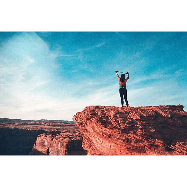 Selfie or die. • • • • • • • • • • • • • #35mm #35mmfilmphoto #filmisnotdead #myfeatureshoot #thefilmcommunity #grandcanyon #filmfeed #kodakportra #film #portra800 #pentaxk1000 #pentax #arizona #selfie #selfiestick #selfieislife #selfieordie #vanity  #selfabsorbed #kookoftheday #pagearizona #horseshoebendarizona  #horseshoebend #squareready #photofilmy #expofilm3k #artofvisuals #lightroom @artofvisuals @expofilm @ignant @mego_o #micosuave